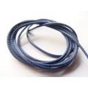 voskovaná šňůra, barva tmavě modrá, šířka 1 mm