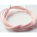 voskovaná šňůra, barva jemně růžová, šířka 1 mm