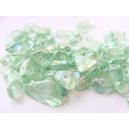 skleněné zlomky, barva zelená, 10 g, cca 50 ks